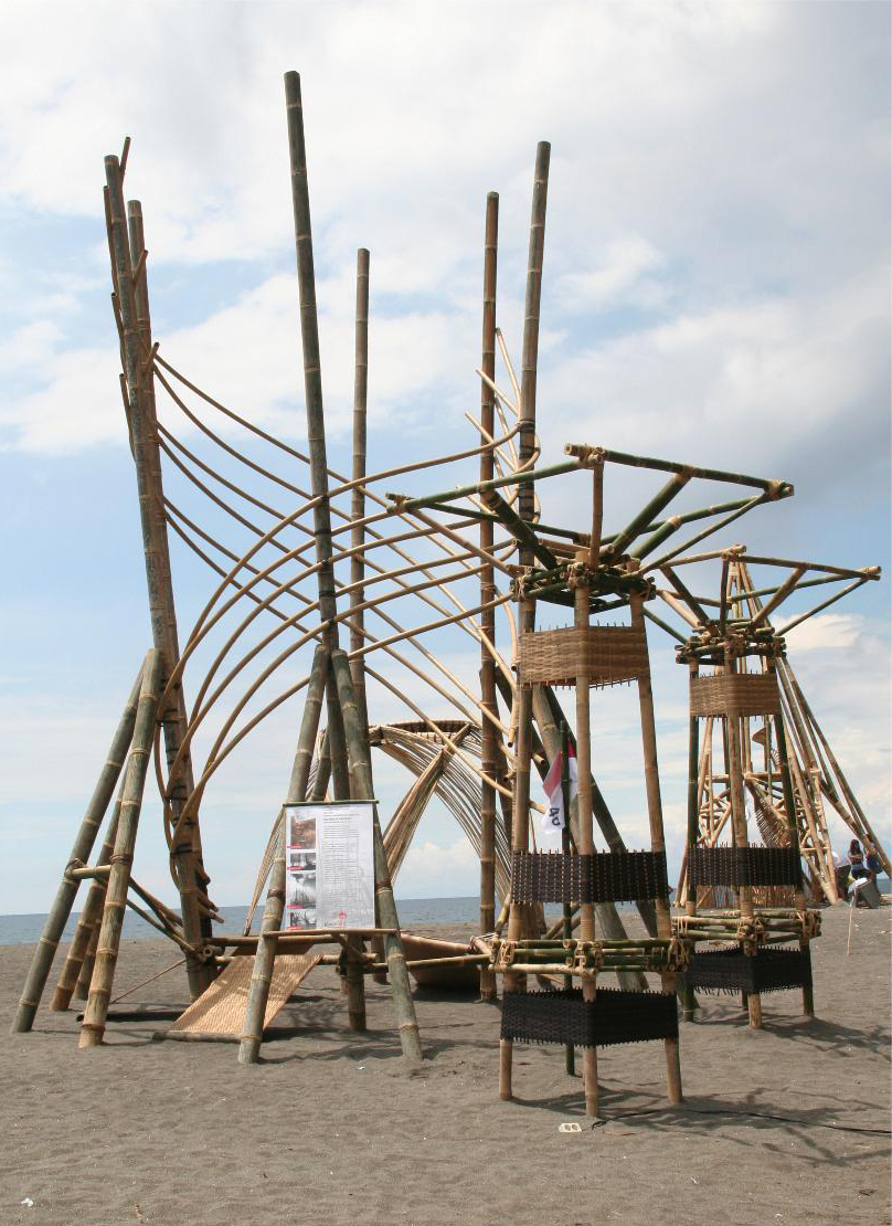 Virobamboo installation for International Bamboo Festival Lombok Indonesia